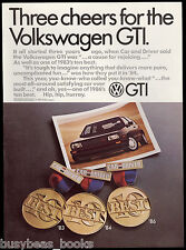 1986 VOLKSWAGEN GTI advertisement, VW GTI with best-car awards