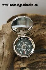 Kompass maritim mit Deckel Ø: 3,5 cm Höhe 1,5 cm Messing vernickelt