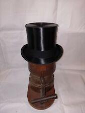 Vintage Black Silk Top Hat Size 6 1/2 Ascot Quality