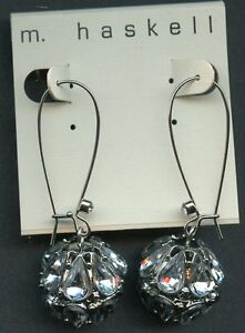 """m. haskell Earrings cluster drop """"NWT"""""""