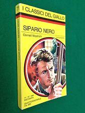 Cornell WOOLRICH - SIPARIO NERO , Giallo Mondadori Classici n.71 (1969)