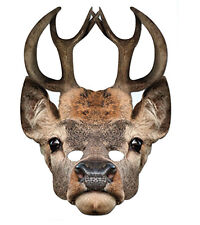Stag Animal Single CARD 2D Party Face Mask hen night hunt deer wood