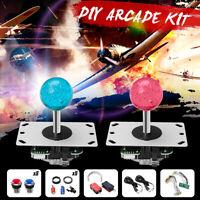 2 Players Arcade Game DIY Bundle Kits USB Controller Joystick LED Lamp