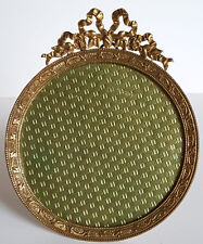 Cadre photo à Noeud style Louis XVI en Bronze  (2)