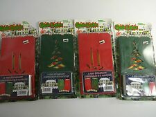 (4) Sets of 6 Holiday Fire Retardant Luminarias w/ 6 Candles each  VINTAGE 1995