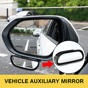 360° Stick on Rear View Auxiliary Blind Spot Mirror Wide Angle Car Parking Side