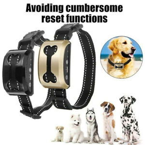 Anti Bark Dog Shock Collar Trainer Ultrasound No Barking Rechargeable