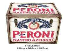 Wooden retro industrial look trunk 36cm wide- peroni
