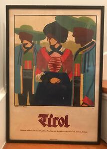 "RARE Vintage Poster TIROL Innsbruck ""Trachten aus Dem Wipptal"" AUSTRIAN FOLKWEAR"