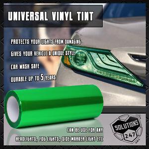 "Lime Green Vinyl Film Smoke Tint Headlight Taillight Fog Light 12""x48"" 1 x 4 FT"