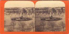 Nîmes Place Photo Dumas Stereo Vintage albumine ca 1870