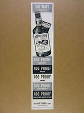 1950 Southern Comfort Liqueur '100 Proof' bottle art vintage print Ad