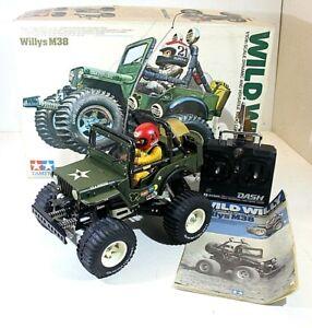 "TAMIYA 5835 ""WILD WILLY"" WILLYS M38 1/10 VINTAGE R/C MODEL OG. ISSUE JAPAN 1982"