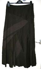 Per Una UK10L EU38L brown mixed-panel fully-lined skirt