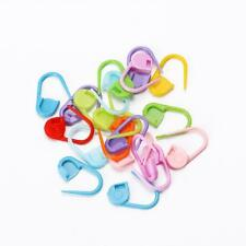 80Pcs Colorful Knitting Stitch Markers Crochet Locking Tool Craft Ring Holder