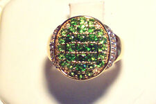 .75 Cts Chrome Diopside w/Diamond accents Stratify ring Sz 6