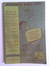 DILLON SC Southern Bell Telephone Directory 1960 Lake View, Latta SC Mullins SC