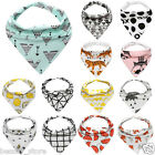 Baby Kids Infant Waterproof Triangle Cotton Bandana Bibs Feeding Saliva Towels