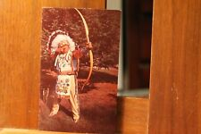 """Vintage Postcard An Old Indian Skill Photo Chief """"Plastichrome"""""""