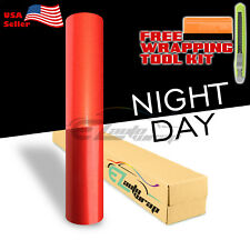 """*12""""x48"""" Reflective Red Vinyl Wrap Sticker Decal Graphic Sign Car Adhesive Film"""