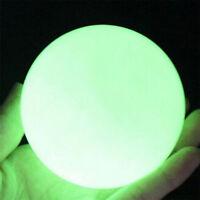 35mm Glow In The Dark Stone Green Luminous Quartz Crystal Sphere Ball Stand Hot
