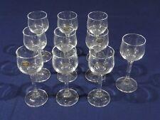 10 Bohemian Crystal Stemware Liqueur / Sherry Glasses 60ml
