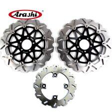 Arashi Front Rear Brake Disc Rotors Set For Kawasaki NINJA ZX12R 1200 2000-2003