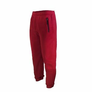 MENS CASUAL SWEATPANTS SLIM-FIT JOGGERS FLEECE PANTS WITH ZIPPERS ON POCKET
