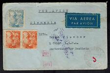 1942 Sabadell Spain Cover to German Soldier Netherlands via LGPA Luftwaffe Mail