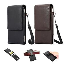 Veritcal Holster Belt Clip Pouch Magnetic Leather Case Cover For Mobile Phones