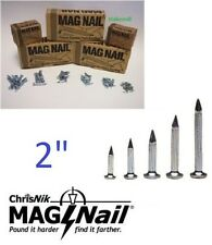 "ChrisNik MagNails 242000 Survey Mag Nails, 2"" x 1/4"" - 100 per box"