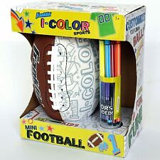 Franklin I-Color Sports Mini Football with 10 Washable Colors Art For Kids New