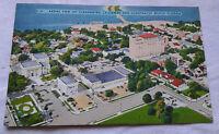 Aerial View of Clearwater Causeway Postcard Clearwater, Florida Landmarks VTG