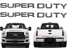 Carbon Fiber Front & Rear Super Duty Letters For 2008-2016 F250 F350 New USA