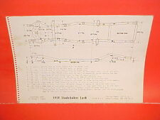 1959 STUDEBAKER LARK REGAL 6 V8 COUPE SEDAN STATION WAGON FRAME DIMENSION CHART