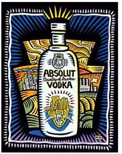 """Absolut 26"""" x 40"""" PENNSYLVANIA Statehood Lithograph Printer's Private Collection"""