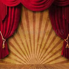 10x10FT Circus Red Curtain Stage Photography Backdrop Background Studio Vinyl