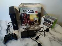 Xbox 360 S 320GB Hard Drive Console Bundle With 11 Games, All Cables, Tested