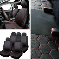 Soccer Ball Style Front+Rear Auto Interior Seat Covers Cushions For 5 Seats Cars