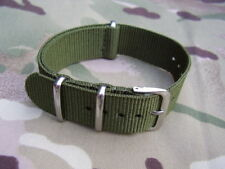 BRITISH ARMY GUARDS,PARA,SAS,RAF,RM,SBS G10 Military Green NATO Watch Strap 20mm