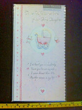 To My Wife On The Birth Of Our Baby Daughter Card & Envelope New