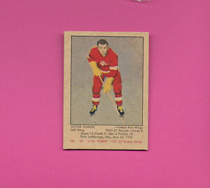 1951 52 Parkhurst #62 Vic Stasiuk Detroit Red Wings Stanley Cup champs GORGEOUS!