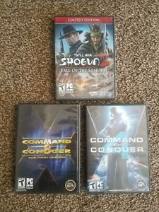 Command and Conquer PC game lot, Shogun, all complete/tested