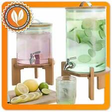 5L Luxus Getränkespender mit Zapfhahn aus Glas - XXL Wasserspender & Ständer 8L