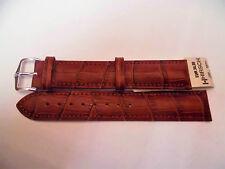 Cinturino Hirsch Pelle Calf stampa Coccodrillo, Anse N. 22 mm e 24 mm