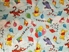 Fabric to Sew Crafts Quilting Mask Scrap Disney Pooh Tigger Kids 9x21 Cotton