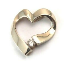 Genuine Diamond Heart Pendant Yellow Gold .16 ct Brand New
