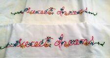 sweet dreams vintage pillowcases...little lovelies