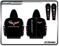 CORVETTE CHEVROLET GM General Motors Mens ZIP UP HOODIE SWEATSHIRT JACKET M New