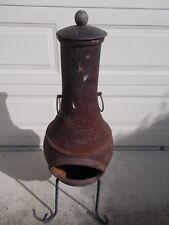 Vintage Heavy Duty CAST IRON Pot Belly Chiminea Chapala Heater